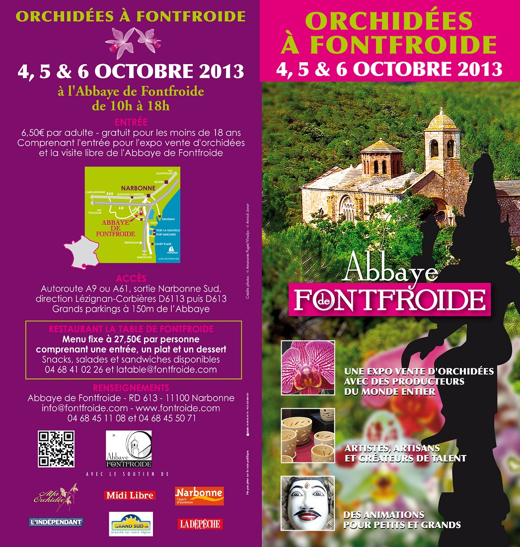 Abbaye de Fontfroide / 4 au 6 octobre 2013 Depliant_Orchidees2013_recto-petit